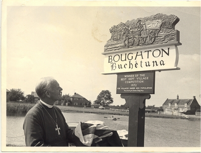 Boughton Sign Unveiling 1972